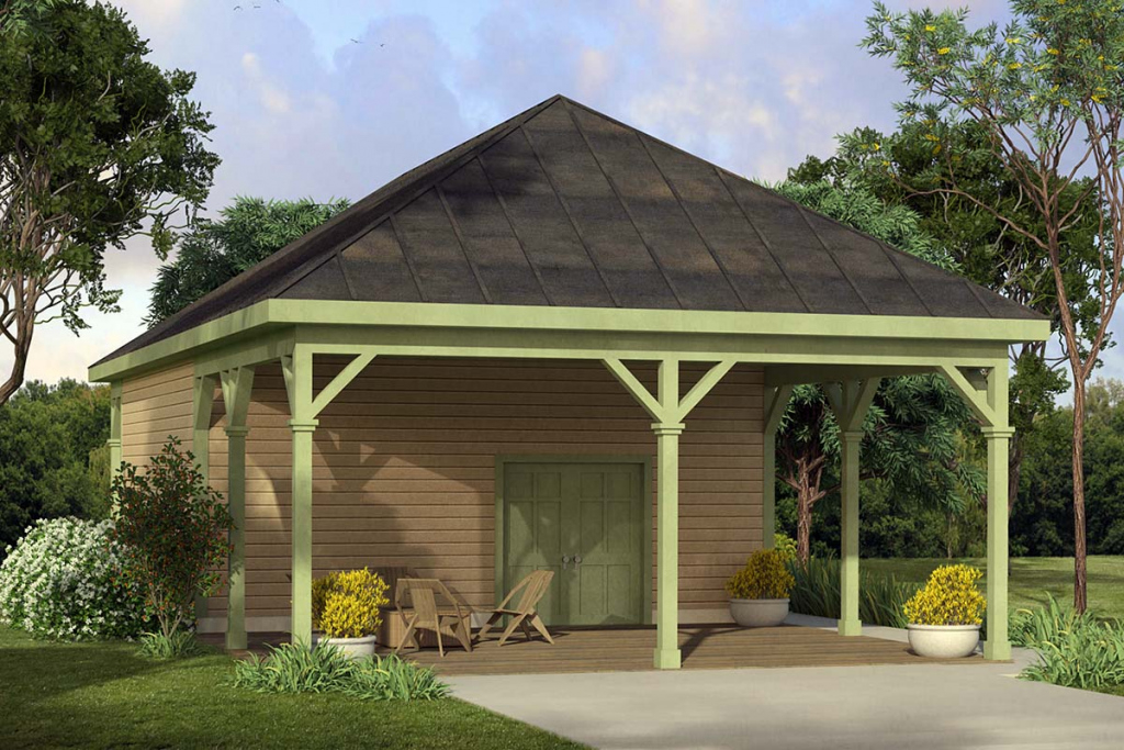 Country Style 2 Car Garage Plan Number 41329 Photo Sample in Garage And Carport Plans