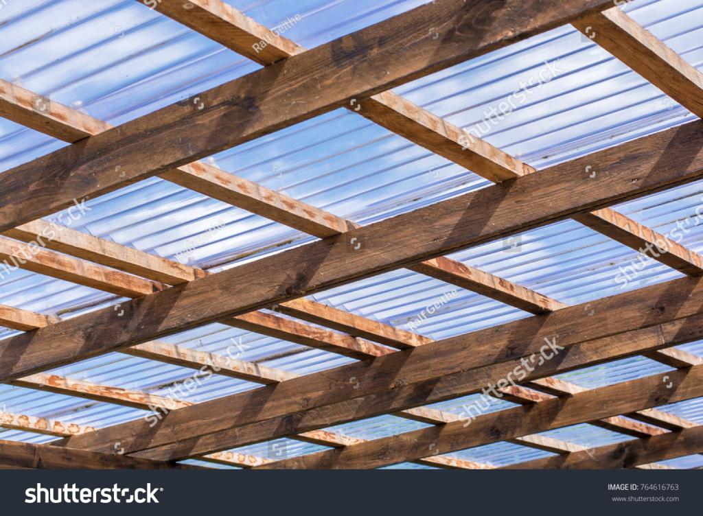 Dachkonstruktion Eines Selbstgefertigten Carports Aus Facade Sample for Metal Carport Panels