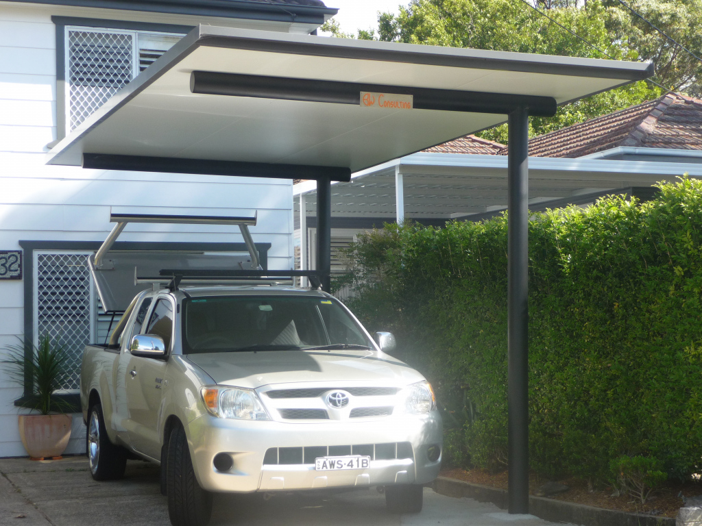 Decorating Cantilevered Carport Canopy With Black Frame For Facade Sample of Cantilever Carport Kit