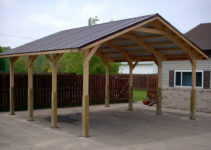 Decorating Wood Carport Canopy With Aluminum Roof For Picture Sample for Outdoor Carport Ideas