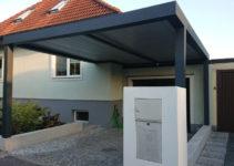 Der Carport Als Alternative Zur Garage Vorteile  Infos Facade Example in Garage Door On Carport