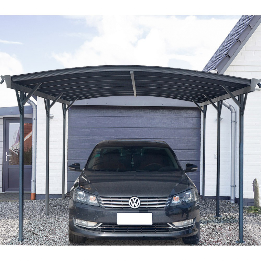Design Carport Falo Anthrazit Photo Sample in 24 By 24 Metal Carport