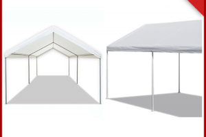 Details About 10X20 Ft Canopy Tent White Heavy Duty Steel Carport Portable  Car Shelter 6 Legs Image Example of Metal Carport Replacement Legs