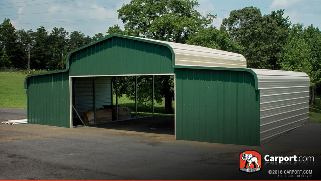 Details About County Barn 48′ Wide X 21′ Long X 9′ High Image Example of Metal Carport Barn