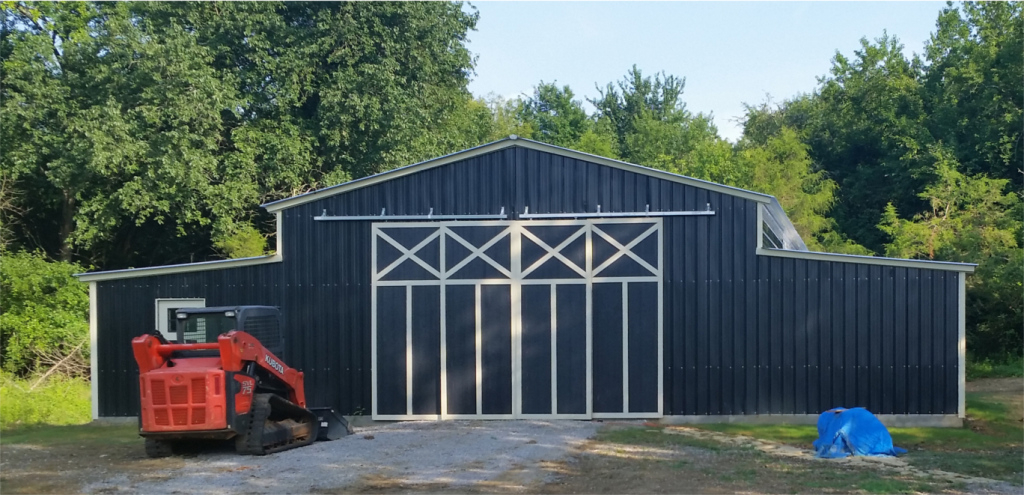 Details About Custom Commercial Barn 54′ Wide X 71′ Long X 12′ High Picture Sample in Metal Carport Barn