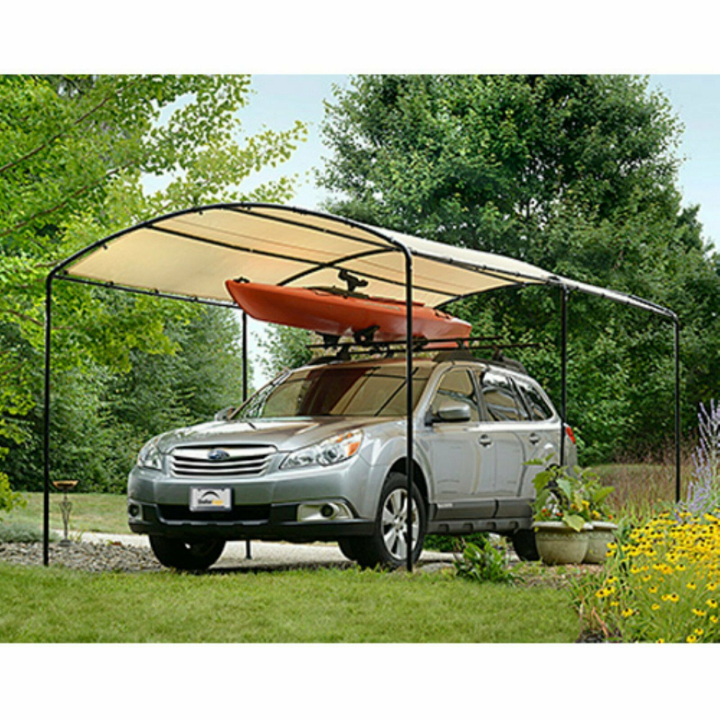 Details About Metal Carports Carport Canopy Kits Garage Steel Frame Car 9 X  16 Boat Tent Cover Picture Sample in Metal Carport Frame Kits
