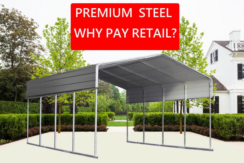 Details About Steel 6X9M Double Carport Kit Backyard Shelter Diy Shed  Garage Portable Pergola Facade Sample in Wholesale Metal Carport Kits