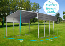 Details About Steel 6X9M Double Carport Kit Backyard Shelter Diy Shed  Garage Portable Pergola Image Example of Canopy Shed Carport