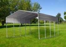 Details About Steel Carport 33X6M Portable Shelter Carports Kit Gazebo  Pergola Backyard Shed Facade Example in Steel Carport Kit