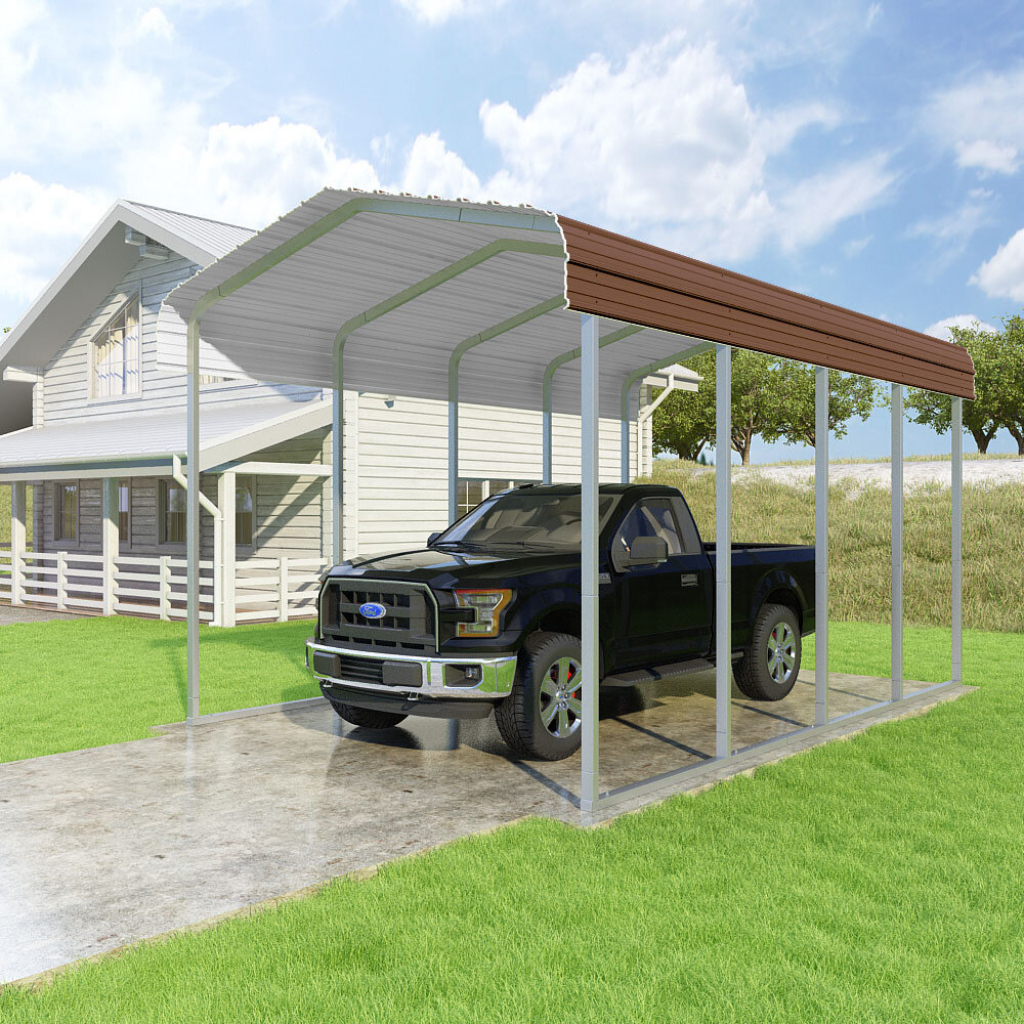 Details About Versatube Building Systems Classic 14 Ft X 20 Ft Canopy Picture Example in Versatube Steel Carport