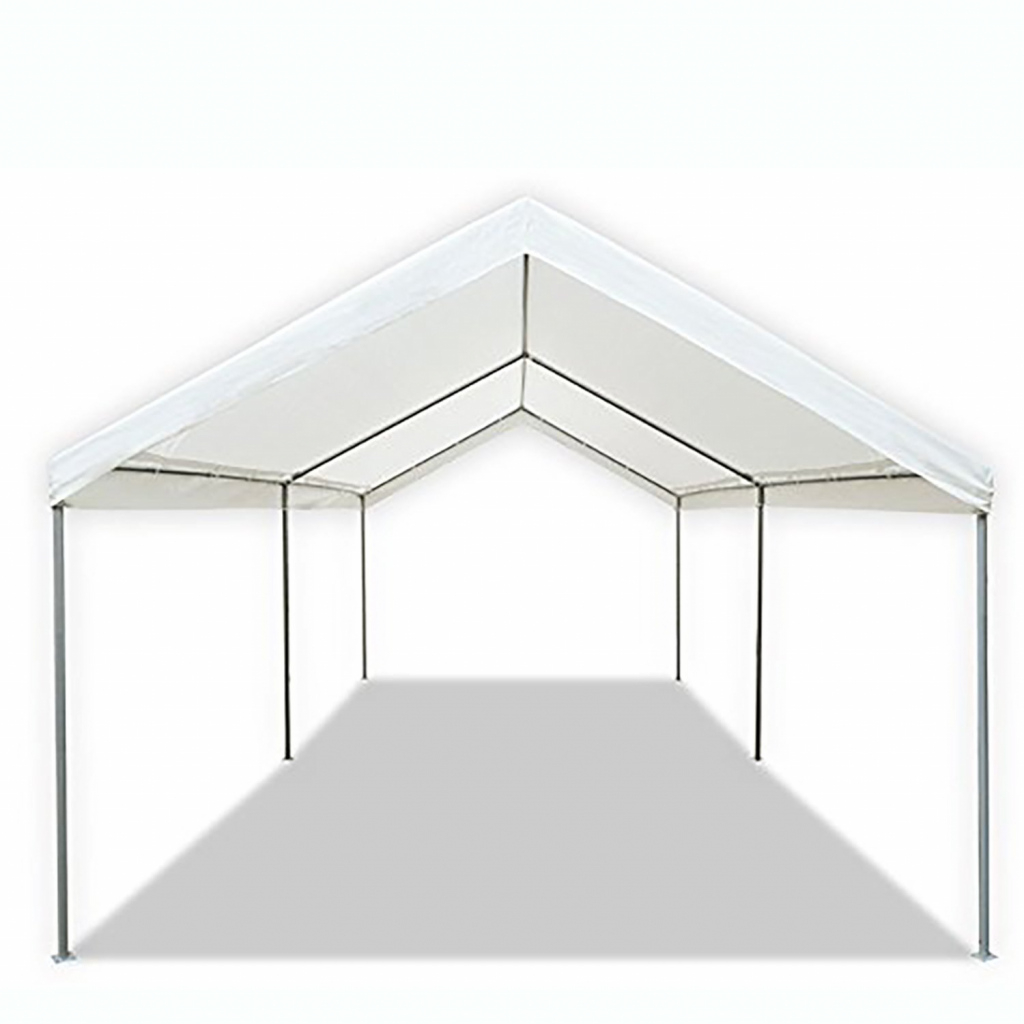 Details About White 10X20 Domain Carport Multiuse Waterproof Portable Car  Garage Tent Cover Facade Example in Carport Canopy 10X20