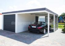 Diegaragencarportprofis  Kombinationen Garage Carport Facade Example of Garage Carport Combination