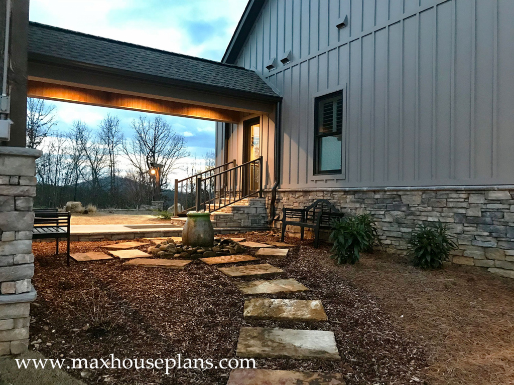 Double Master On Main Level House Plan  Max Fulbright Designs Picture Sample in Carport House Plans