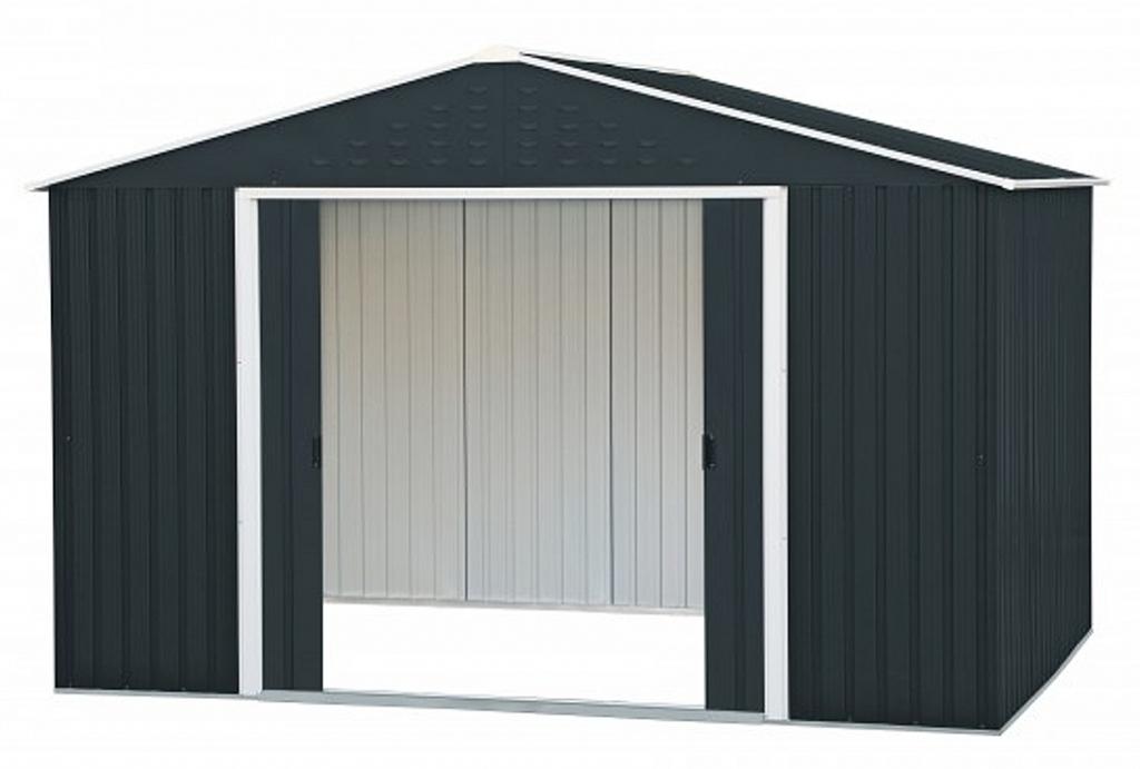 Duramax Metallgerätehaus Colossus 10X12 Anthrazit Facade Example for 10X12 Metal Carport