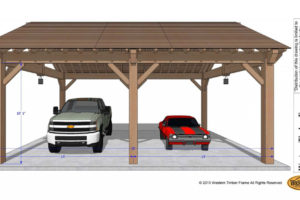 Easily Build Your Own Carport Rv Cover  Western Timber Frame Photo Sample for Wood Frame Carport Plans