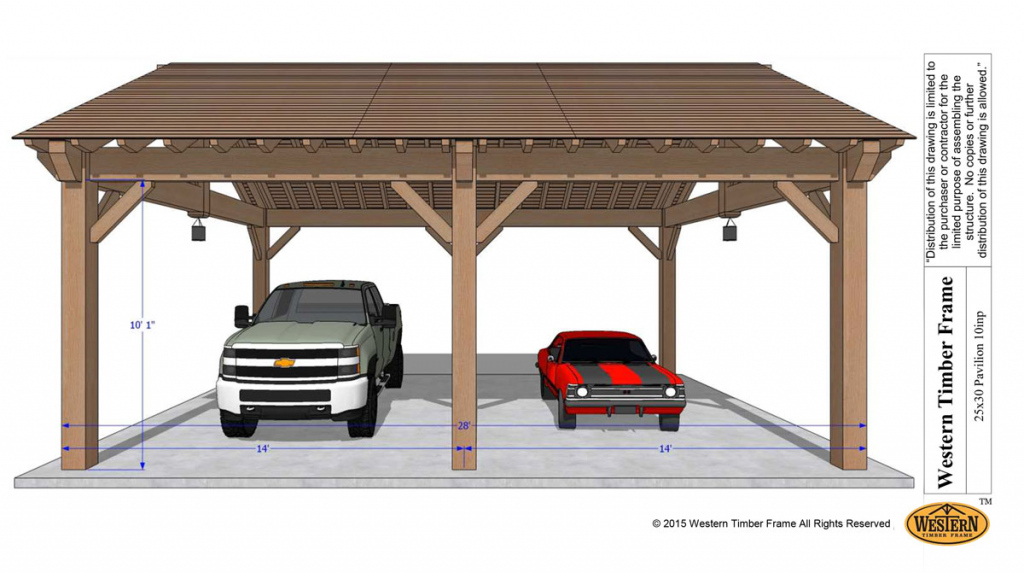 Easily Build Your Own Carport Rv Cover  Western Timber Frame Photo Sample of Build Attached Carport