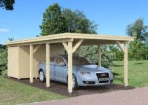 Einzelcarport Karl 2 Facade Example in Metal Carport Extensions