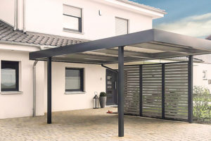 Einzelcarports  Carceffo  Moderne Carports  Garagen Facade Example of Modern Carport Designs