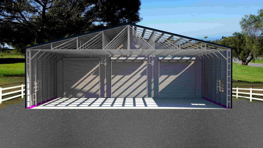 Enchanting Metal Carport Tubing Square Home Improvement Facade Example of Enclosed Metal Carport
