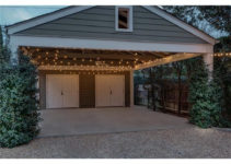 Enclosed Metal Buildings Carport To Garage Before And After Picture Example for Enclosed Carport Ideas