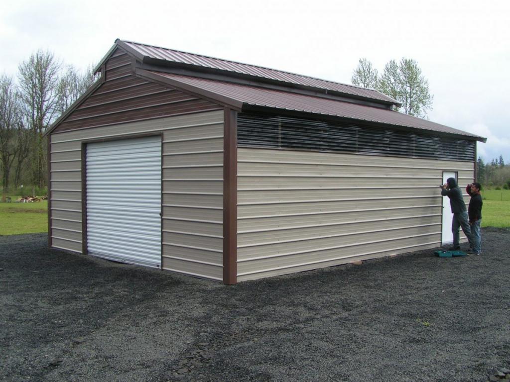Enclosed Metal Carports  Enclosed Carport  Enclosed Image Example in Enclosed Metal Carport