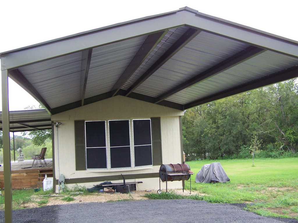 Flat Roof Double Carport Metal Lean To Shed Kits Single Image Sample in Flat Roof Metal Carport Kits