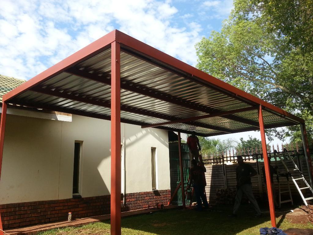 Flat Roof Metal Carport Plans Also Steel Home Carports Photo Example of Plans For Steel Carport