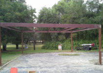 Free Standing All Metal Carport Karnes County Texas Picture Example for Free Standing Metal Carport