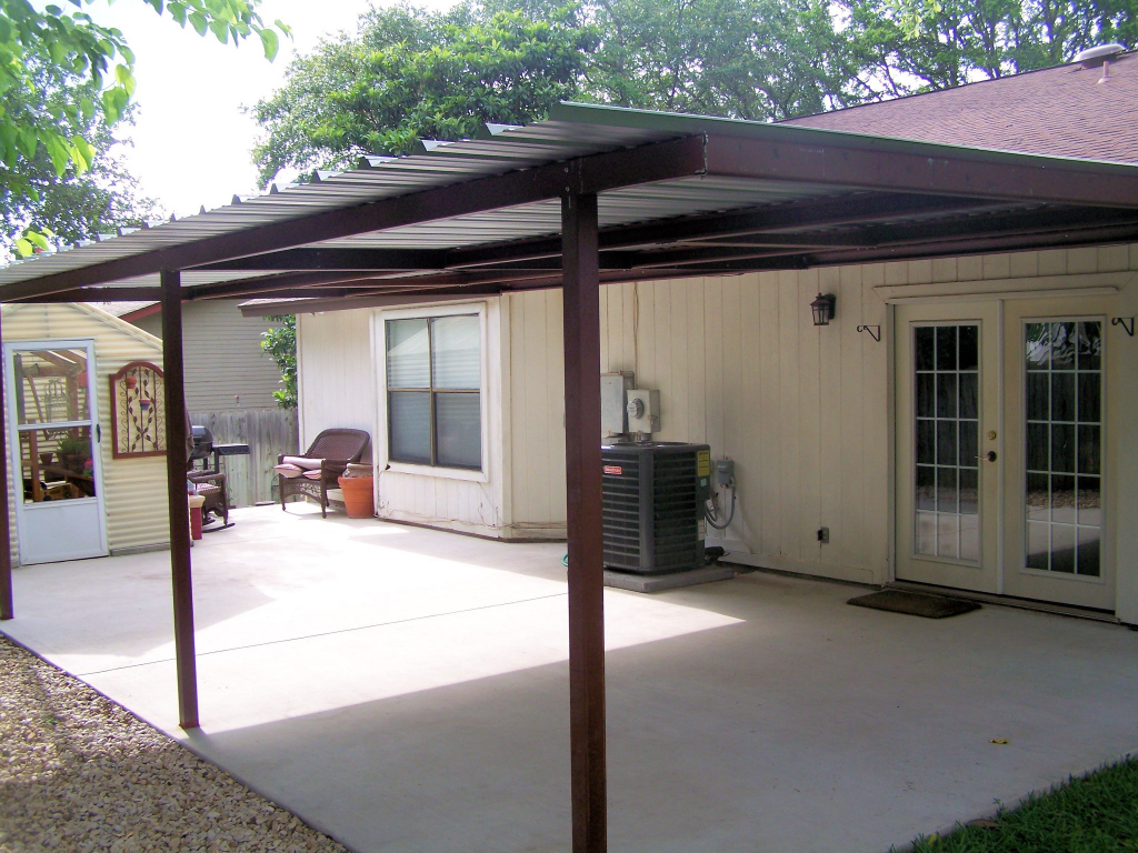 Garage Attached Home Patio Backyard Lean To Cover North West Picture Sample for Outdoor Carport Ideas