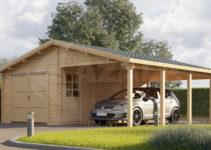 Graed Garage  Carport 44 Mm Facade Sample in Garage With Carport