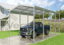 Grand Carport  12'w X 20'l X 10'h Photo Example in Metal Carport Height Extensions