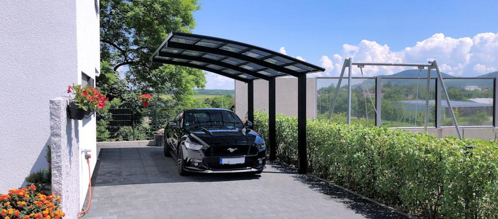Günstige Carports Direkt Vom Hersteller  Carportfabrikde Facade Sample for Metal Carport Shop