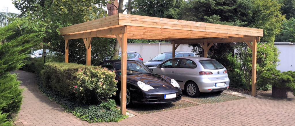 Günstige Carports Direkt Vom Hersteller  Carportfabrikde Photo Example of 3 Car Metal Carport