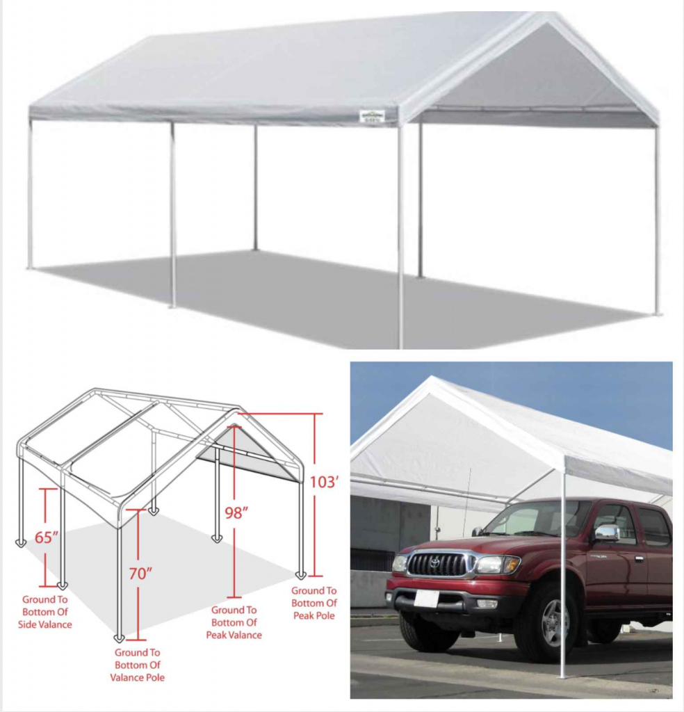 Home Improvement Portable Carport Frame Parts Cover Kit Kits Facade Sample in Metal Carport Frame Parts