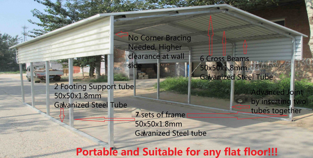 Home Improvement Portable Carport Frame Parts Cover Kit Kits Picture Sample of Metal Carport Frame Parts