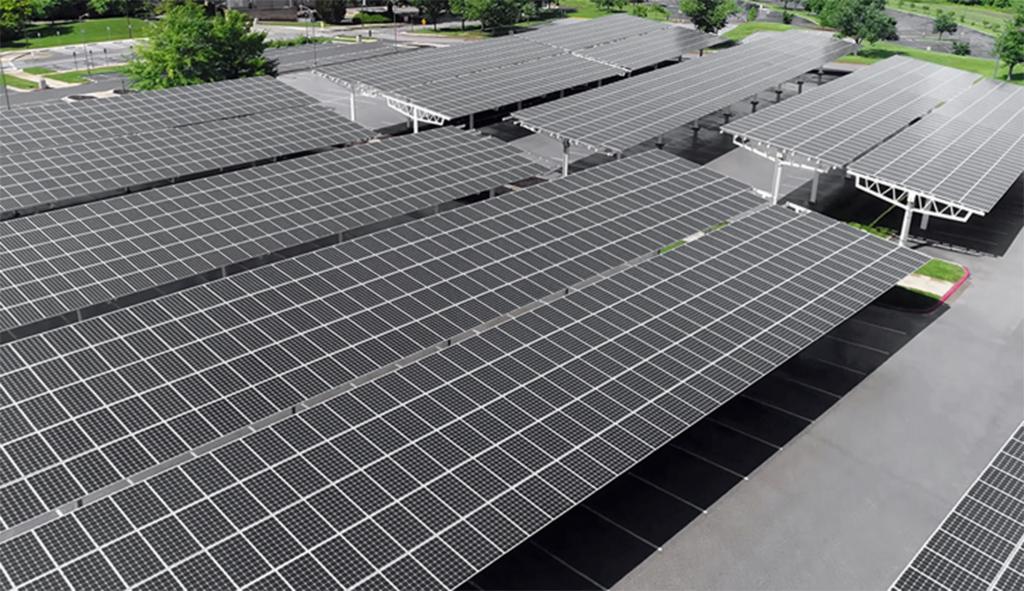 How Commercial Solar Panels Work  Powerhome Photo Sample for Commercial Solar Carport Cost Per Watt