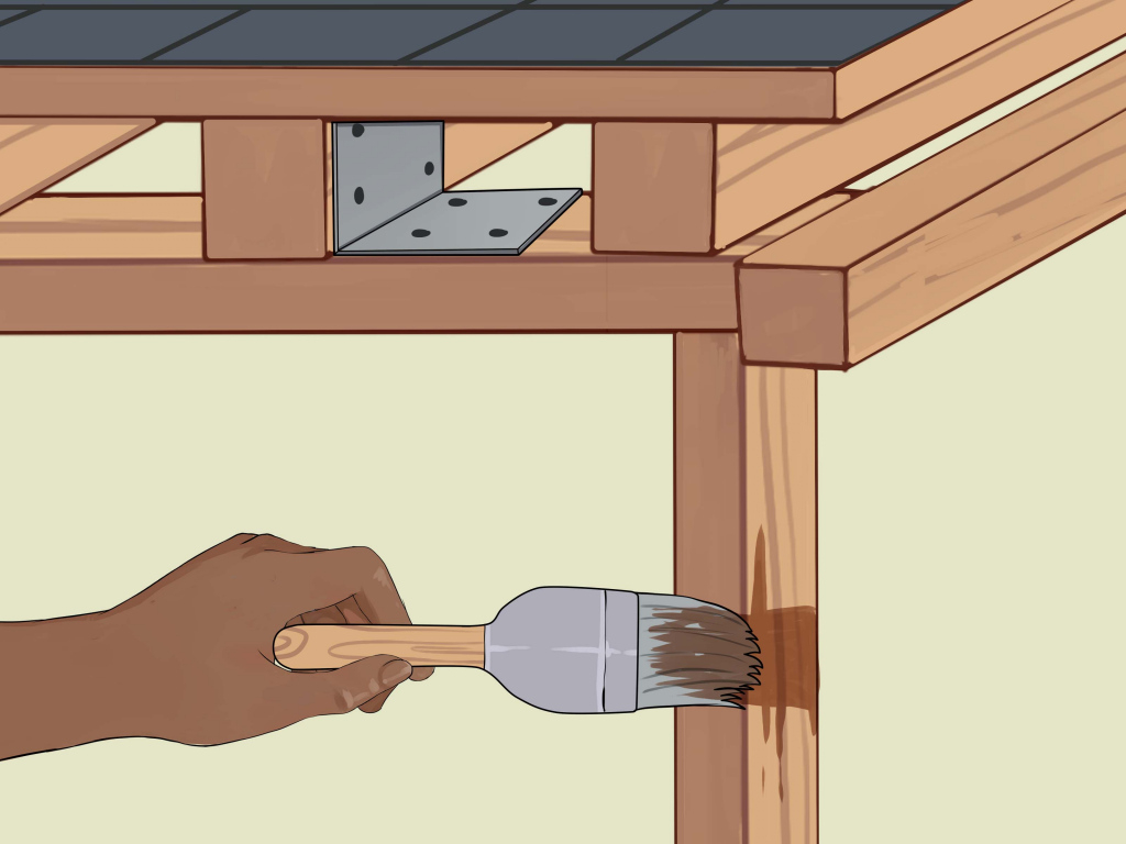 How To Build A Carport With Pictures  Wikihow Picture Sample for Build My Own Metal Carport