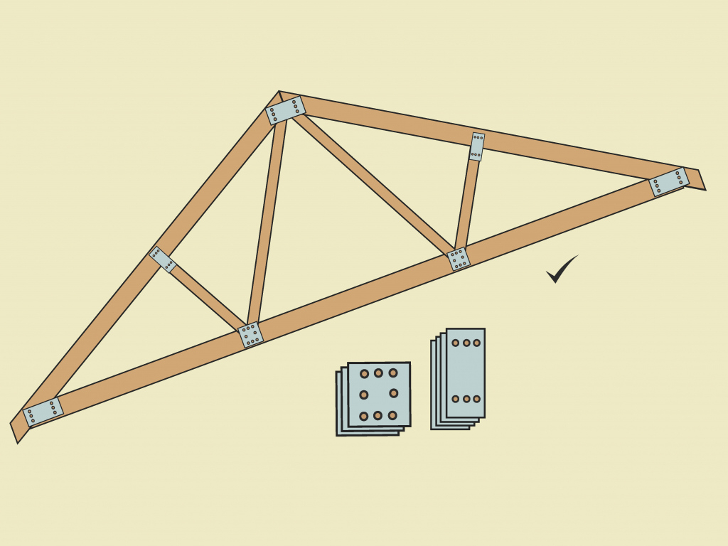 How To Build A Simple Wood Truss 15 Steps With Pictures Image Sample for Wood Carport Trusses