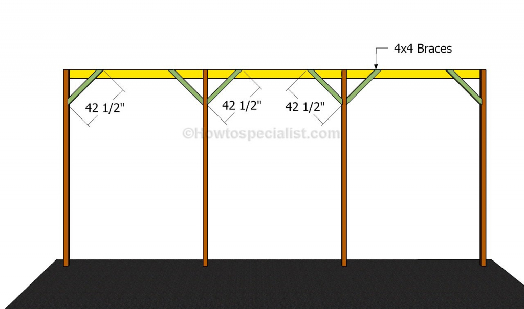 How To Build A Wooden Carport  Howtospecialist  How To Image Example for Wood Rv Carport Kits