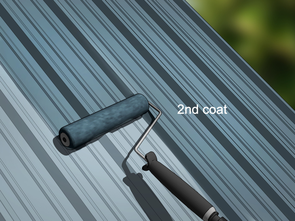 How To Paint A Metal Roof With Pictures  Wikihow Picture Example in Metal Carport Paint