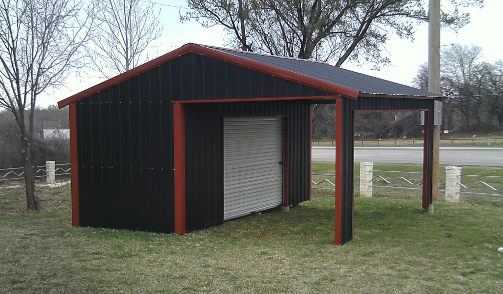 Ideas Of Metal Carports And Garages Best Enclosed Steel Facade Example of Enclosed Metal Carport