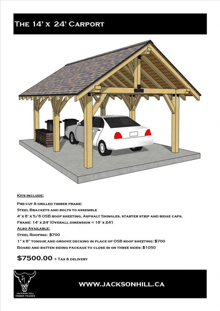 Jackson Hill Timber Frames Accessory Buildings Photo Sample of Wood Carport Kits Canada