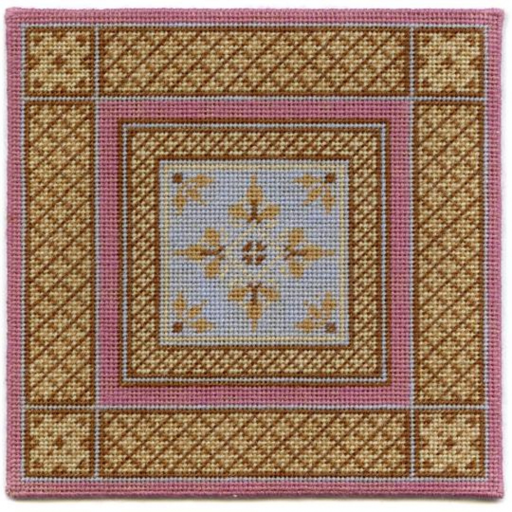 Janet Granger Designs Isobel Dolls' House Needlepoint Medium Picture Example for Dolls House Carpet