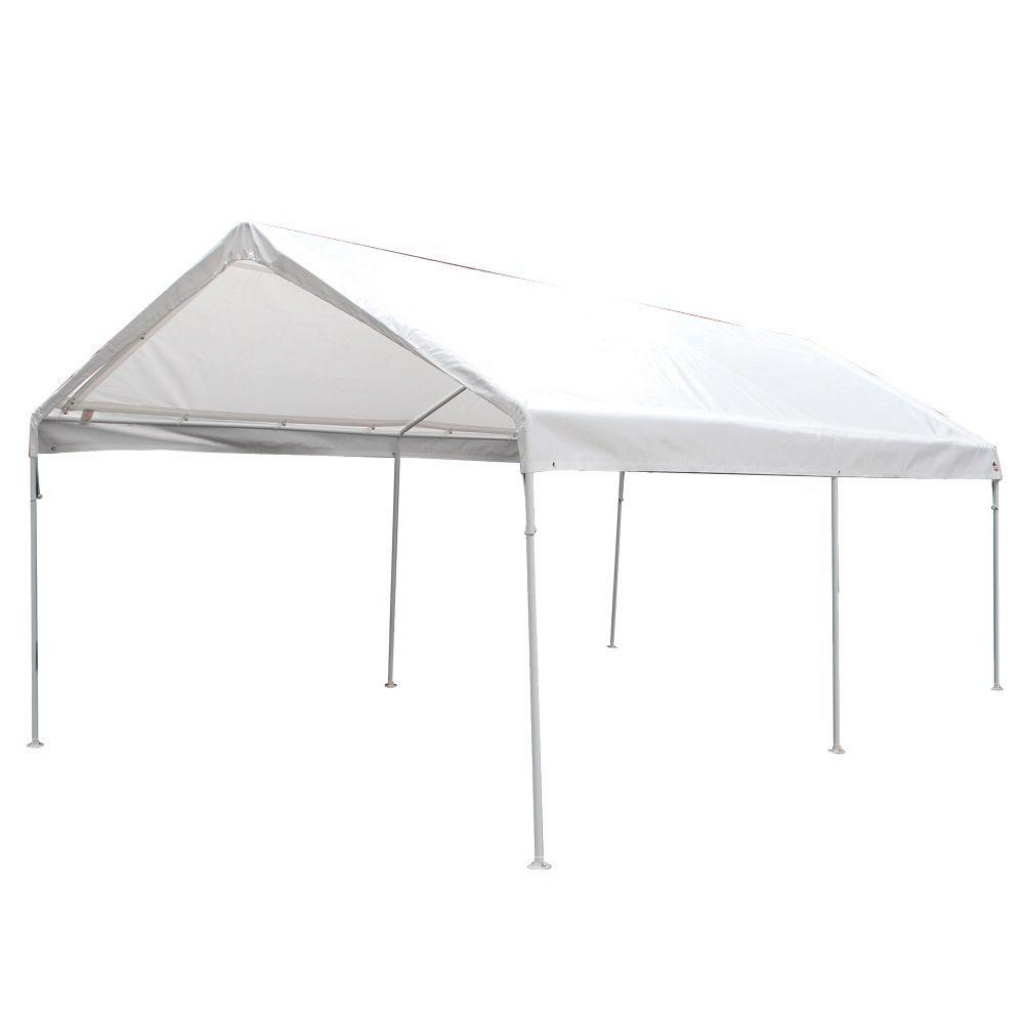King Canopy 10 Ft W X 20 Ft D 6Leg Universal Canopy In White Facade Example in King Canopy 10 X 20 Ft Canopy Carport 6 Legs