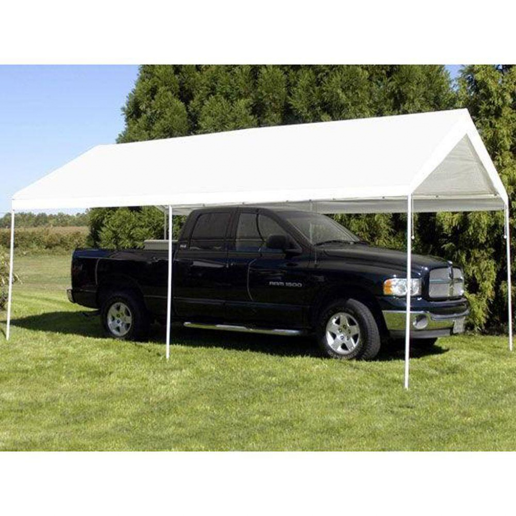 King Canopy 10 Ft W X 20 Ft D 6Leg Universal Canopy In White Picture Sample for King Canopy 10 X 20 Ft Canopy Carport 6 Legs