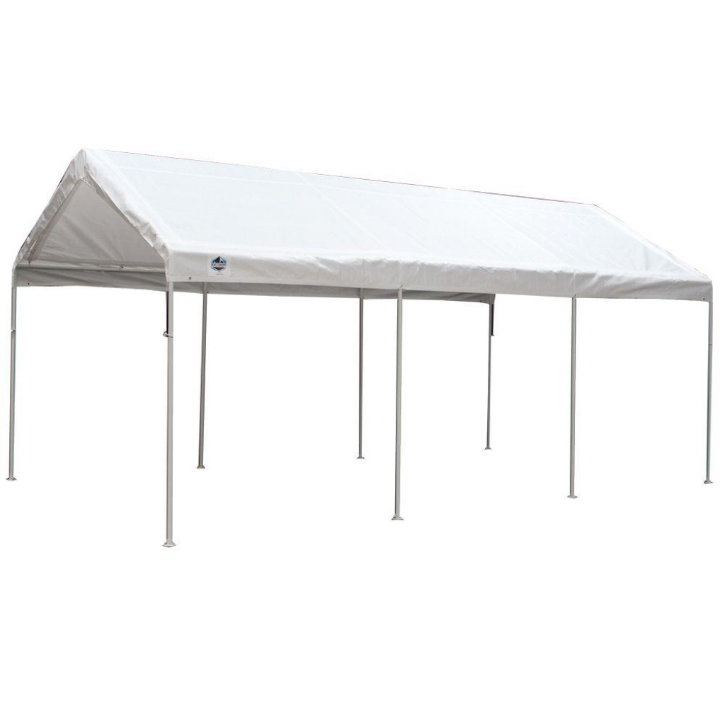 King Canopy 10 Ft W X 20 Ft D 8Leg Universal Canopy In White Picture Example in 10 X 20 Canopy Carport