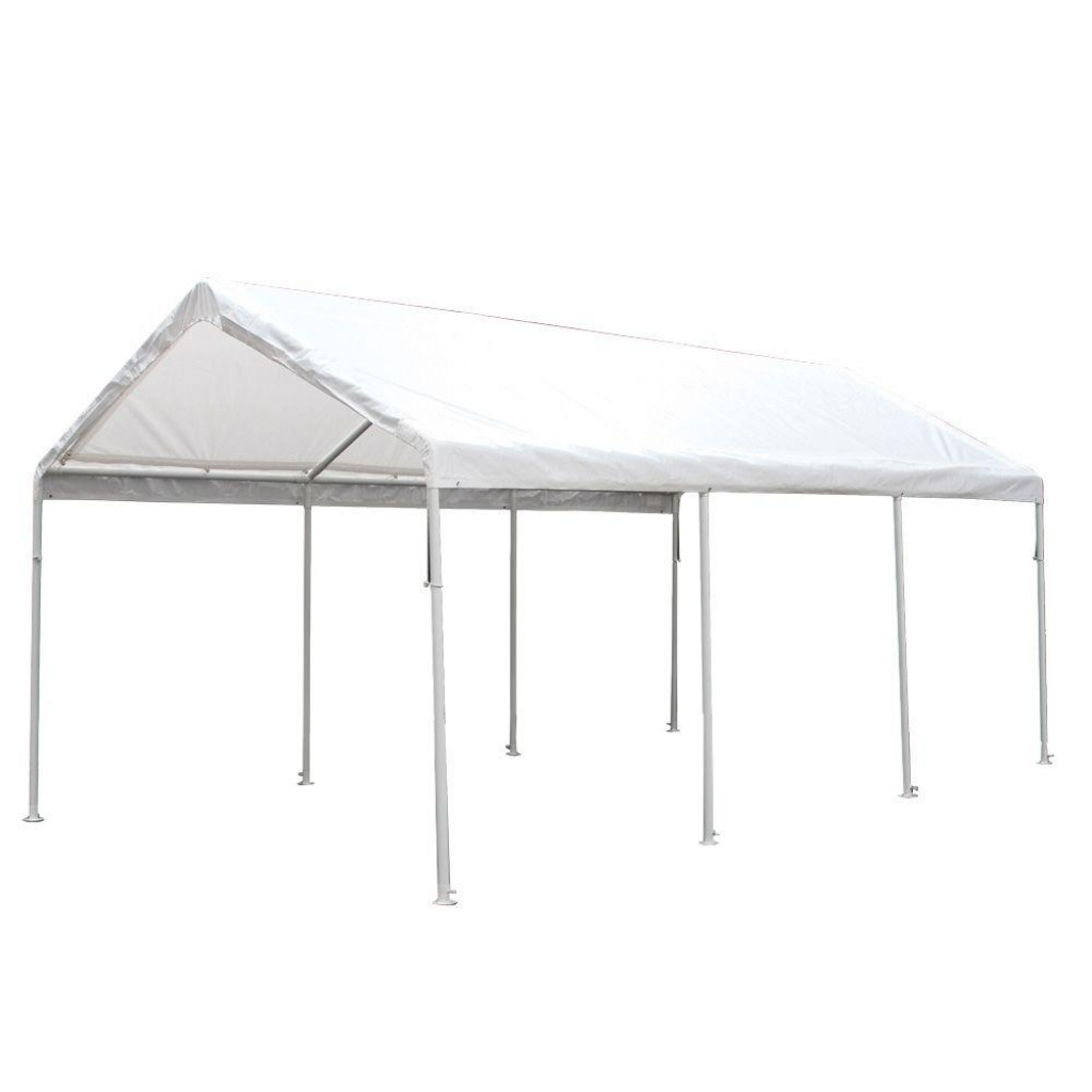 King Canopy Hercules 10 Ft W X 20 Ft D Steel Canopy Photo Example in 10 X 20 Canopy Carport