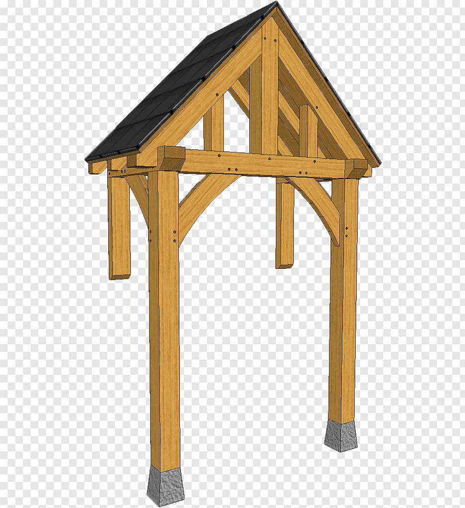 King Post Porch Lumber Timber Framing Wooden Truss Png Facade Sample for Wood Carport Trusses