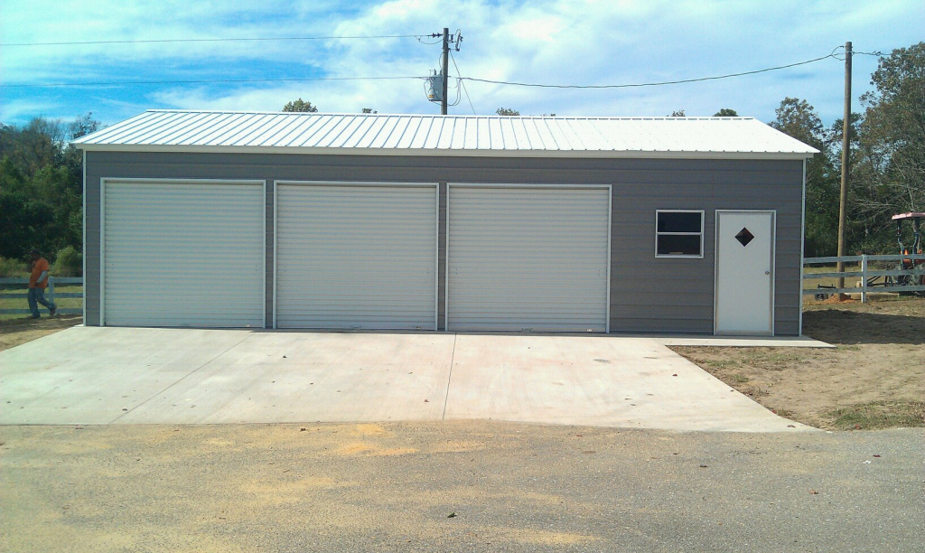 Large Metal Carport Garage — Mile Sto Style Decorations Picture Sample for 3 Bay Metal Carport