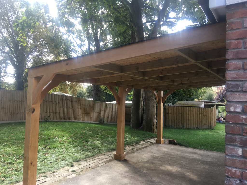Lean To Patio Covered Wood Car Port Ark Timber Buildings Image Sample for Wood Carport Kits